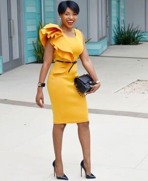 Ruffled Women Dress