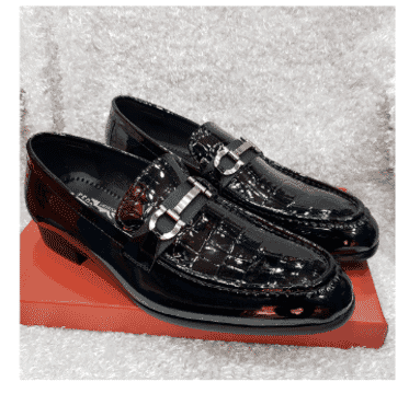 Patent Croc Horsebit Loafer Shoe + A Free Happy Socks