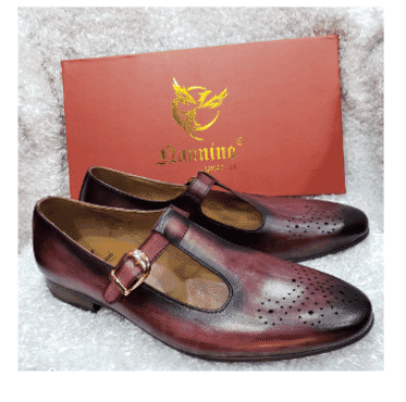 Wine Monk Strap Loafer Shoe + A Free Happy Socks