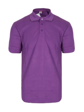 PLAIN POLO T-SHIRT PURPLE