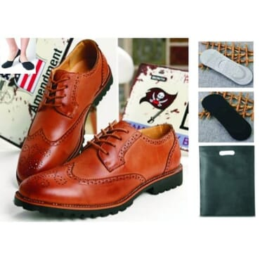 Brogue Leather Shoes - Brown