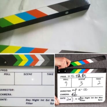 Acrylic Dry-erase Film/movie Clapperboard