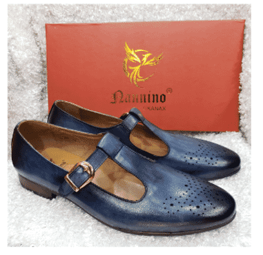 Blue Monk Strap Shoe + A Free Happy Socks