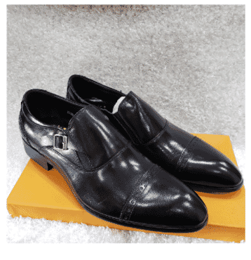 Cap-toe Men's Monk Strap Shoe + A Free Happy Socks