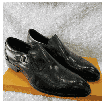 Brogues Men's Monk Strap Shoe + A Free Happy Socks
