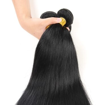 4 Bundles Brazilian Straight Human Hair Weave.