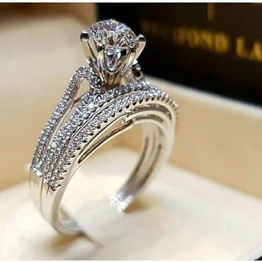 Crystal Zirconia Women Engagement Ring