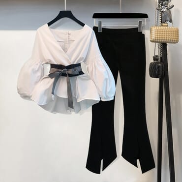 Women Top & Split Pencil Pant.