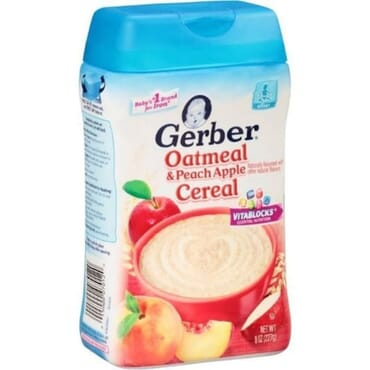 Gerber Oatmeal And Peach Apple Cereal