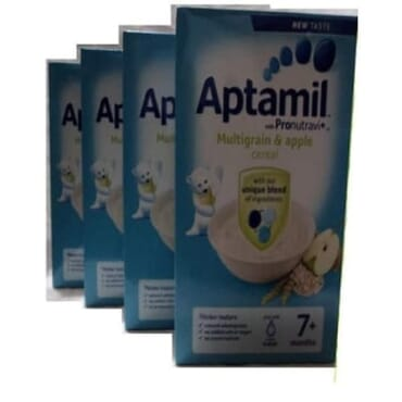 Aptamil Multigrain & Apple Cereal 7mths + 4 Packs