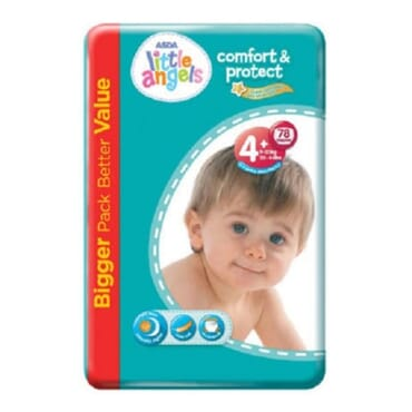 ASDA Little Angels Comfort & Protect Size 4 Plus Nappies - 78 Pieces