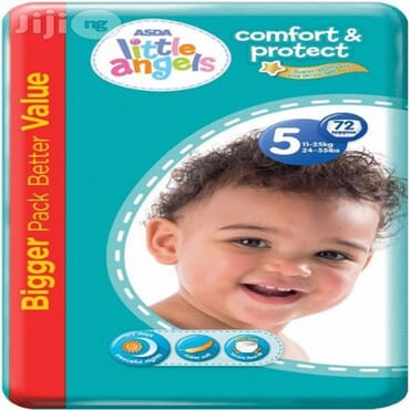 ASDA Little Angels Comfort Protect Nappies - Size 5 Junior 11-25kg