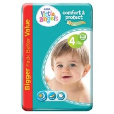 ASDA Little Angels Comfort & Protect - Size 4 Diapers