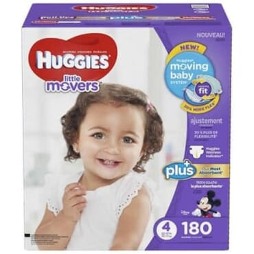 Huggies Little Movers Size 4 - 180pcs