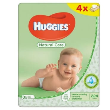Huggies Natural Care Wipes - 4 X 56 Per Pack