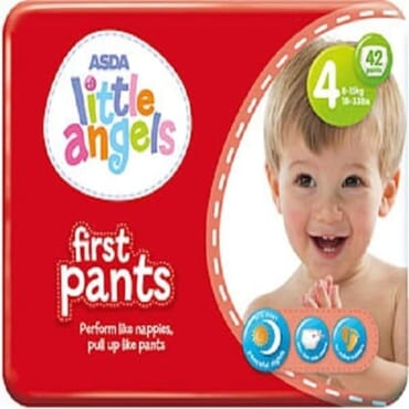 ASDA Little Angel First Pant - Size 4 - 42 Pieces