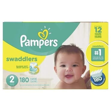 Pampers Swaddlers Diapers - Size 2 - 180counts