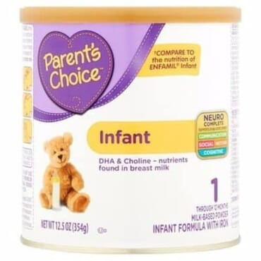 Parent's Choice Infant Formula With Iron -12.5 Oz -354g