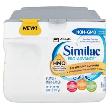 Similac Pro-advance Optigro Infant Formula With Iron Milk-based Powder