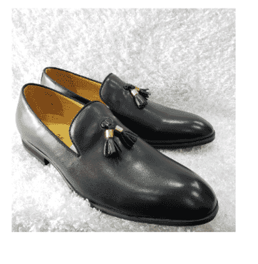 Pure Leather Loafer Shoe + A Free Happy Socks
