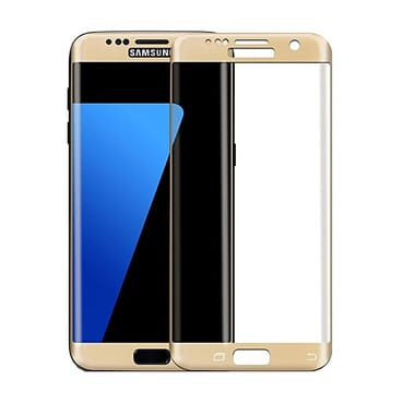 Generic Galaxy S6 Edge Tempered Glass Screen Protector - Gold