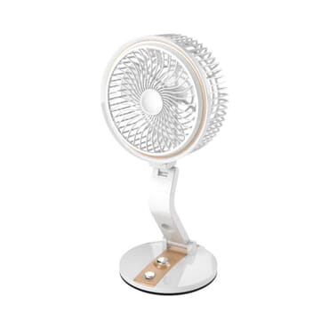Adjustable Height Folding Fan Multi Function USB Charging And Fan Flash Light