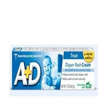 A + D Diaper Rash Cream Treatment With Aloe