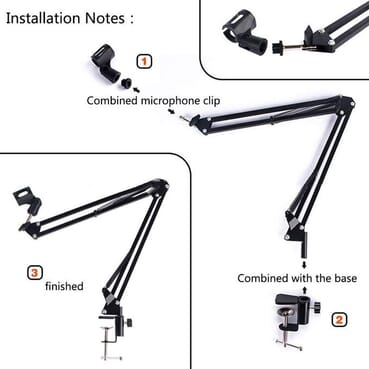 Condenser Microphone /Adjustable Desk Recording Microphone Stand/Microphone Holder/Microphone Cantilever Bracket