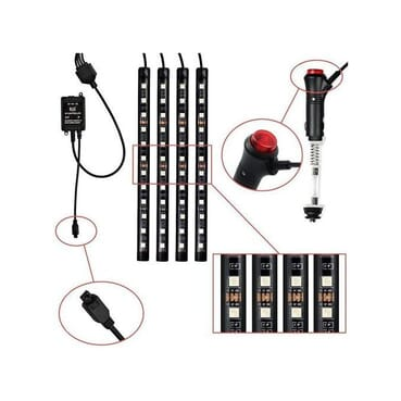 All Cars Light LED Interior Decoration Atmosphere Lights With Function And Wireless Remote Control