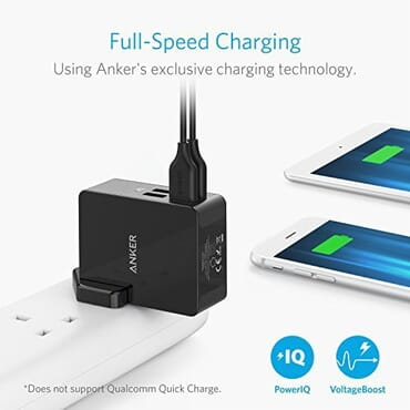 Anker 27W PowerPort 4 Lite 4-Port USB Wall Charger