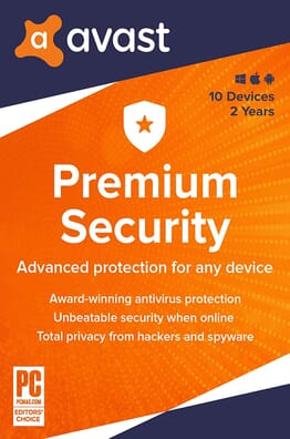 Avast Premium Security 2020 | 10 Devices | 2 Years | PC/Mac | Activation Code by email