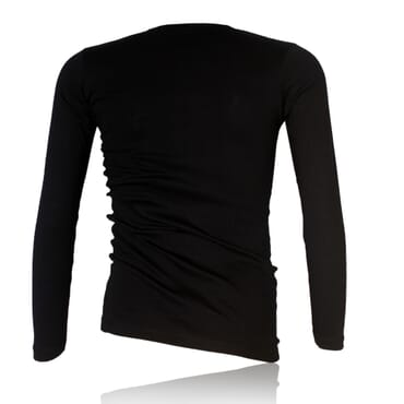 Police 1009 Body Size Plain Black Long Sleeve T-Shirt