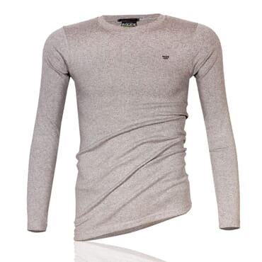 Police 1009 Body Size Plain Grey Long Sleeve T-Shirt