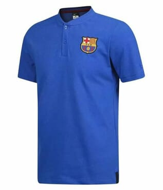 BARCELONA PRE MATCH POLO-BLUE