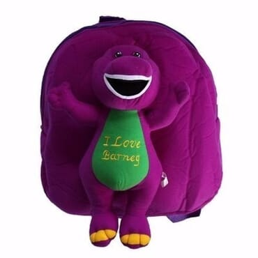Barney Teddy Bag - Purple