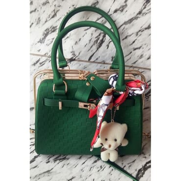 Big Shoulder Strap Female Handbag/Jelly Bag/Matte Handbag With Scarf&Bear Ball.