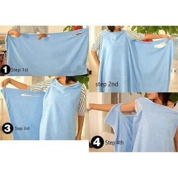 Big Size Microfiber Water Absorbing Wearable Towel