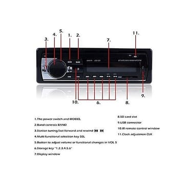 Bluetooth Car Mp3 Player With Memory Card Slot, USB Hub,Clock,AUX,Phone Call Answering Calls