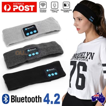 Bluetooth Wireless Music Headband Ash Black