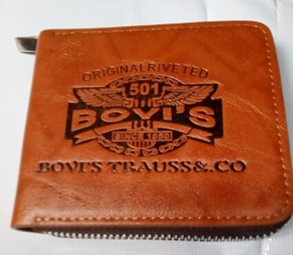 Bovi's Foldable Men's Wallet-Brown