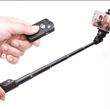 Extendable Selfie Monopod With Bluetooth Remote Selfie stick mini tripod phone clip