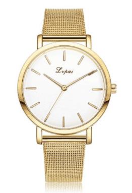 Fashion Fashion Women Crystal Quartz Lady Watch Bracelet Watch Gold