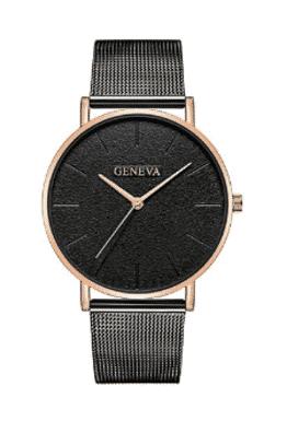 Geneva Men Watches Luxury Stainless Steel Mesh Quartz Watches
