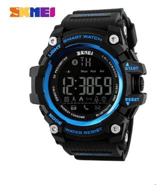 Skmei Men Digital Wristwatches Bluetooth Smart Watch Outdoor Sports Watches Waterproof Blue