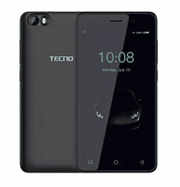 Tecno F1- 5.0 Big Screen -8gb Rom + 1gb Ram + Free Cover Inside - Elegant Black