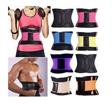 Hot Shapers Waist Trainer Power Belt Fitness Body Shaper Adjustable Waist Support Breathable