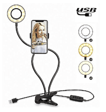 Generic Selfie Ring Light Phone Holder Selfie Light For SmartPhones