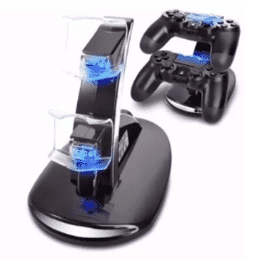 A&S PS4 Controller Charging Stand - 2x USB Simultaneous Charge
