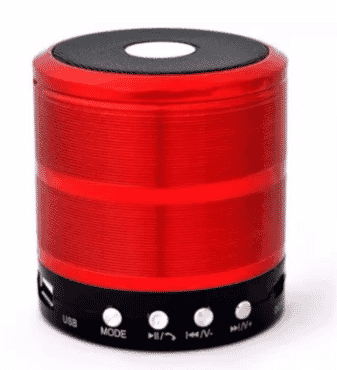 Multifunctional Bluetooth Mini Speaker - WS-887 - Red