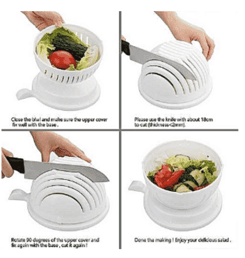 Generic Salad Cutter Bowl - Salad Maker